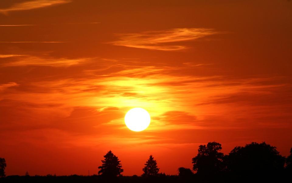 Het eerste zonnetje