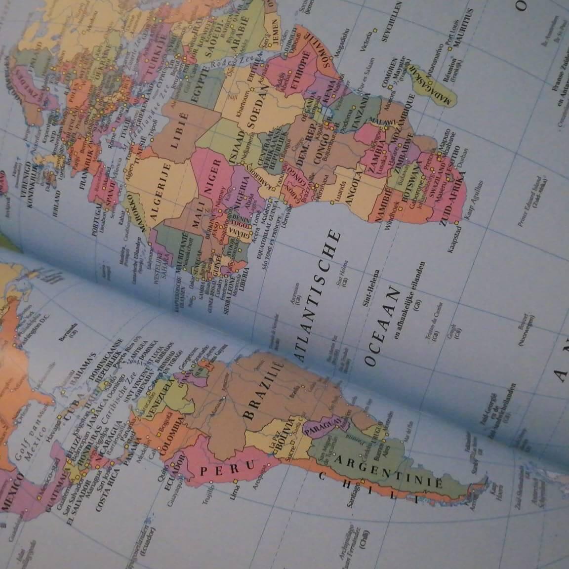 Landen die ik wil bezoeken - atlas