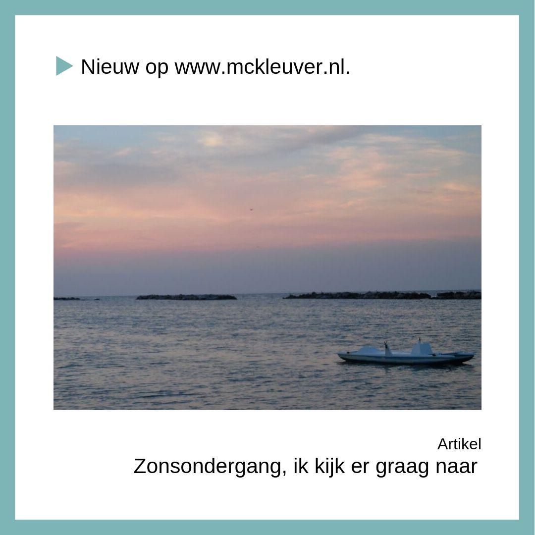 Zonsondergang | Ik kijk er graag naar