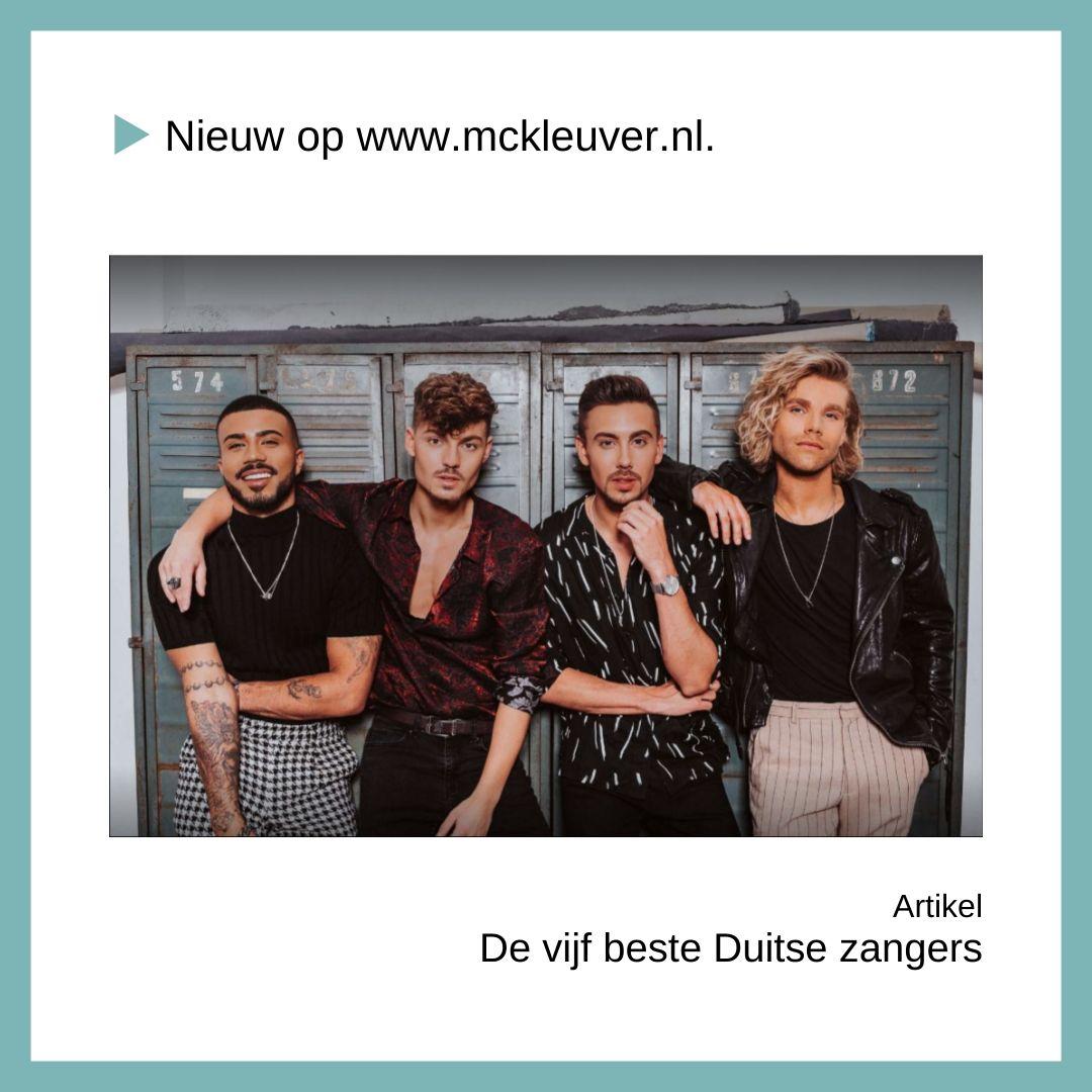 Vijf beste Duitse zangers