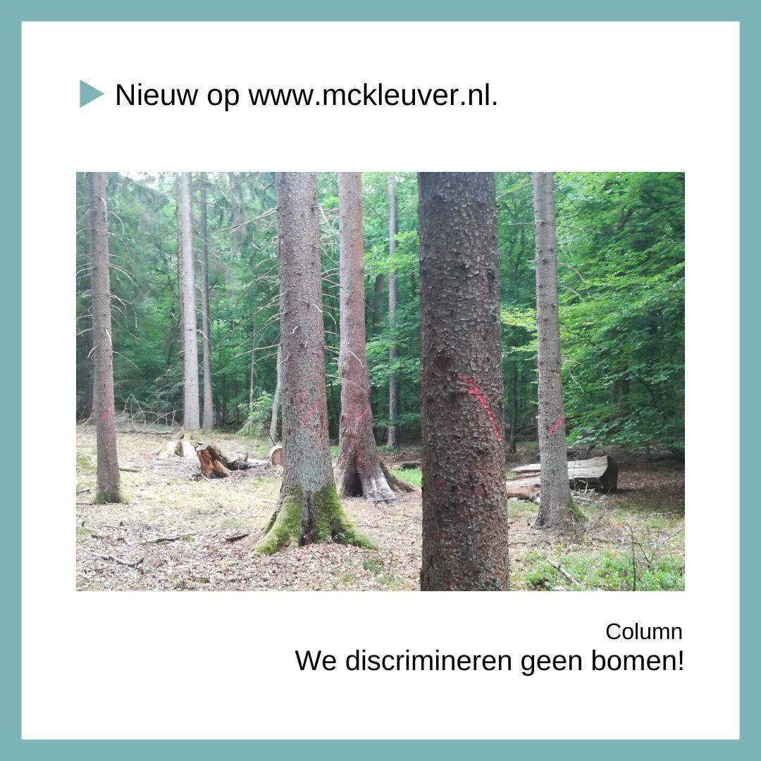 we discrimineren geen bomen