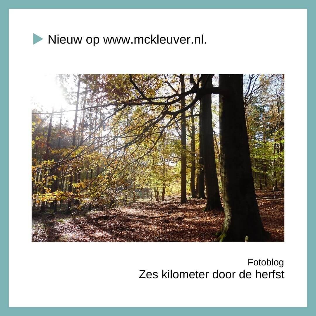 zes kilometer door de herfst